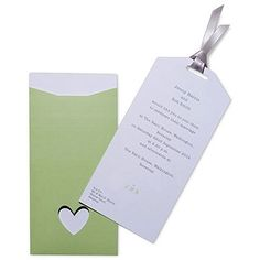 Eco Chic Hearts and Your Initials Invitation