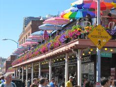 The street of Pike's Place Market, Seattle, Washington