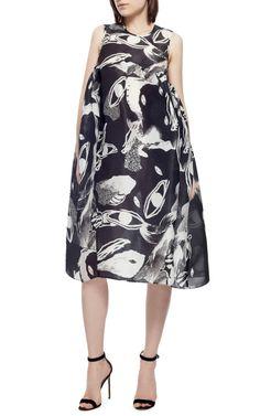 Existential Printed Silk-Orgaza Dress by Ellery - Moda Operandi