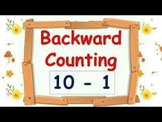 Backward Counting 10 - 1 | Reverse Counting 10 - 1 | Rama Rani - Kids Educational Videos - YouTube Kindergarten Math Activities, Kindergarten Teachers, Fun Math, Math Resources, Math Games, Preschool, Math Stations, Math Centers, Counting Backwards