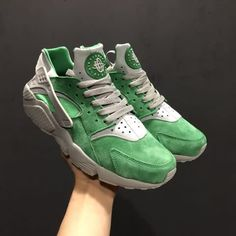 ac31f57df9529 Cheap Nike Air Huarache Run PRM AAA Mens Green shoes Only Price  56 To  Worldwide and