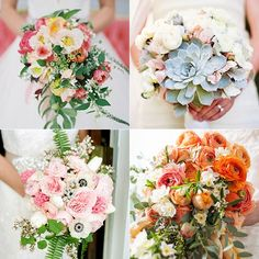 More brides are walking down the aisle carrying a bold and bright bouquet.