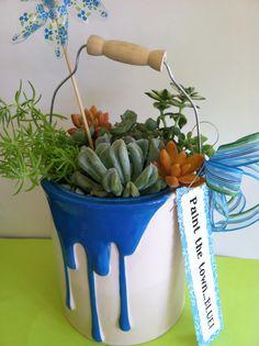 succulent paint can