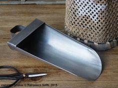 Pelle à graines zinc PM, déco scandinave, Ib Laursen