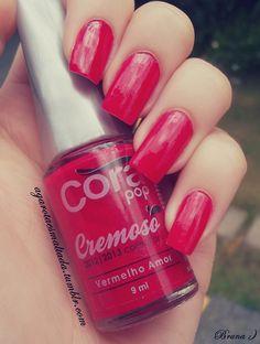 Esmalte Vermelho Amor, da Cora. Por: A Garota Esmaltada (http://agarotaesmaltada.tumblr.com)