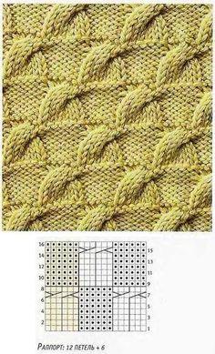 жгуты-в-шахматном-порядке. Love Knitting, Knitting Stiches, Cable Knitting, Knitting Charts, Knit Stitches, Stitch Patterns, Knitting Patterns, Crochet Patterns, Stitch Book