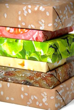 cheeseburger gift wrap set, why do I like this so much?!