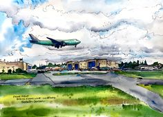 """SKETCHY EVERETT VOLUME 16 - Paine Field AKA """"The Boeing Factory"""" \\ by Elizabeth Person"""
