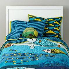 The Land of Nod | Kids Bedding: Ocean Life Bedding Set in Boy Bedding