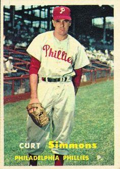 Curt Simmons 1957   Pitcher - Philadelphia Phillies 13128702f4a
