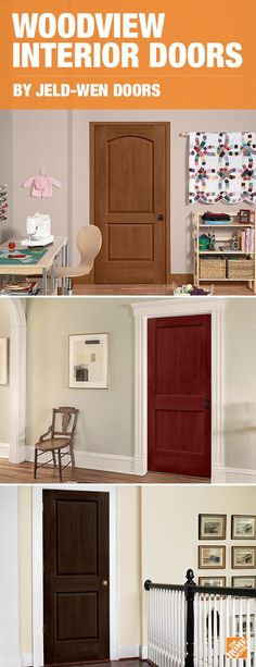 You can easily transform any room in your home by simply changing a door. Maximize your home's value and style with a molded composite interior door that has the look of real wood, without the maintenance. Woodview Interior Doors are constructed with strong, eco-friendly wood fibers to ease our environmental impact and are hollow so they're lightweight and easy to install. Click to discover more.