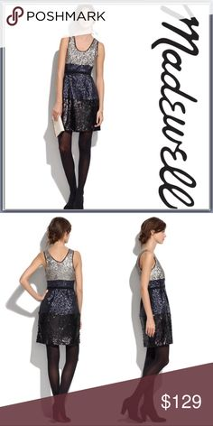 """NWT Madewell Color block Sequin Dress ➖NWT ➖BRAND: Madewell ➖SIZE: 2 ➖LENGTH: ~35""""  ➖STYLE: Color block sequin dress : A perfectly party ready sequined color block tank dress with a fitted waist and straight skirt ! Perfect for the holidays!    ❌NO TRADE   homecoming prom short cocktail club   Entropycat Madewell Dresses Mini"""