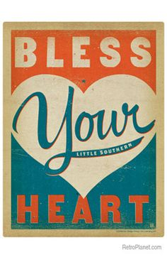 image of Bless Your Heart Wall Decal