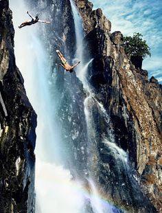 Blog de palma2mex : Clavadistas se lanzan de las cataratas Victoria