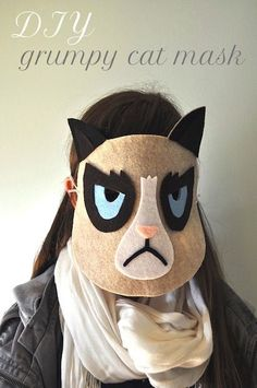 DIY grumpy mask face