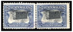 1911 General Post Office, 25c black and blue, center inverted, rejoined horizontal pair, lightly cancelled, pressed out crease, otherwise fine, with 1999 APS cert. (YT 145a) --- $2,500.00  2011year