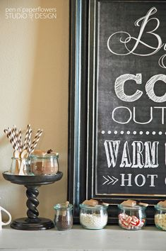 Pen N' Paper Flowers: STYLiNG | Hot Cocoa Bar