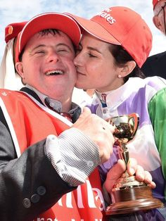 Steven and Michelle Payne with the Melbourne Cup