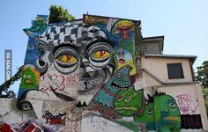 Street art #graffiti Grafitti Street, Murals Street Art, 3d Street Art, Graffiti Art, Amazing Street Art, Amazing Art, Art Rules, Sidewalk Art, Alice
