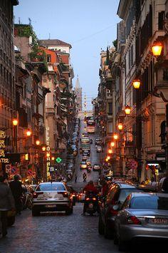 Famous street, Via Sistina, Rome, Italy   Flickr - Photo Sharing!