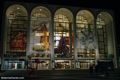 Lincoln Center decorated for Christmas