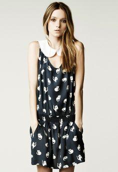 Image result for Zara 'Cat Print Dress'