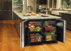 """What do you think of this under the counter refrigerator? Want more? View our """"Kitchen Storage"""" album on our site at http://theownerbuildernetwork.co/ideas-for-your-rooms/home-storage-gallery/kitchen-storage/ We're looking forward to reading your opinions..."""