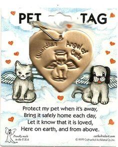Guardian Angel Cat Pet Tag  $4.00