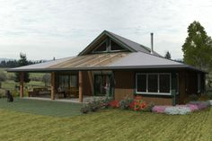 Country Style House Plan - 3 Beds 2 Baths 1920 Sq/Ft Plan #452-1 Exterior - Other Elevation - Houseplans.com
