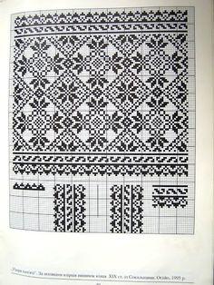 Cross stitching , Etamin and crafts: Traditional cross stitch Pattern Fair Isle Knitting Patterns, Knitting Charts, Weaving Patterns, Knitting Designs, Knitting Stitches, Cross Stitch Borders, Cross Stitch Charts, Cross Stitch Designs, Cross Stitching
