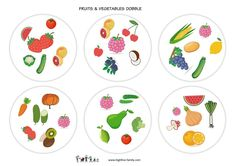 Parler anglais-jeu anglais-dobble-fruits et légumes-fruits and vegetables-learn english High Five, Math Games, Decorative Plates, English, Speech Language Therapy, Games, Learn English, English Games, Cards