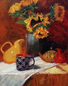 Sunflower and coffee print 16x20