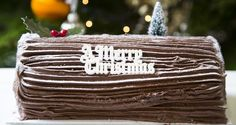 Chocolate Yule log - made one in cookery at school:)