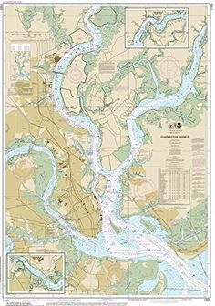 Charleston Harbor Chart printed on sailcloth for home décor wall art print. Unique Textile Printing http://www.amazon.com/dp/B00R4ZFD7O/ref=cm_sw_r_pi_dp_2C0.ub0G17C64