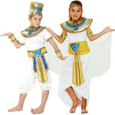 Ancient Egypt Pharaoh Queen Costumes Princess Royal Golden Girl Boy Priest Costume halloween cosplay kids child clothing #Affiliate