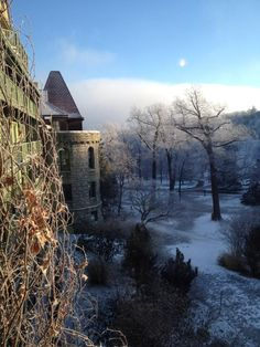 Mohonk Mountain House morning in winter
