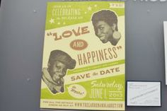 Speaking of poster-style invites, larger-format poster-size invitations were also a big (no pun intended) trend. The one by Ladyfingers Letterpress has a Motown vibe.