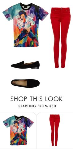 """Michael Jackson"" by eward0129 ❤ liked on Polyvore featuring Paige Denim and Communication Love"