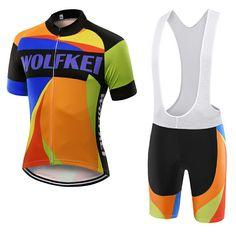 men s cycling jersey and bib shorts kit WOLFKEI Brand Mountain Bicycle 3dda00584