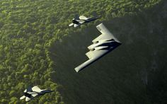 B-2 F-22 Raptors