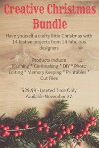 Creative Christmas Bundle get over $200 worth of scrapbooking goodness for $29.99. I can't believe how cool this is!!