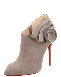 Christian Louboutin  Mrs. Baba Suede Red Sole Bootie