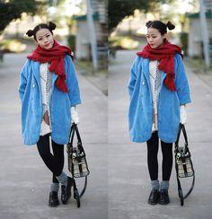 Blue (by Rinka Li) http://lookbook.nu/look/4430667-blue-red