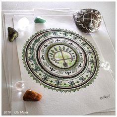 """MANDALA DE OXÓSSI"" (versão colorida)  https://www.instagram.com/notovitch/"