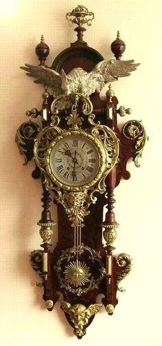 Clocks – Decor : Unikatowy Lenzkirch 1880 -Read More – Unusual Clocks, Cool Clocks, Clock Art, Clock Decor, Antique Wall Clocks, Gear Clock, Classic Clocks, Silver Teapot, Wall Clock Online