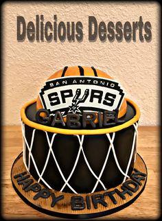 Basketball Spurs cake
