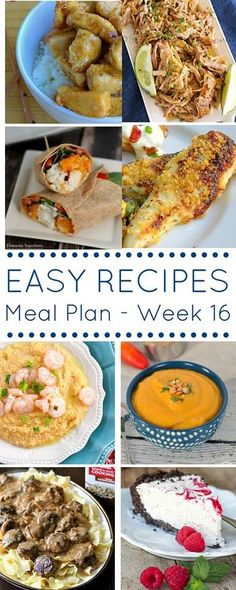 The Easy Dinner Recipes Meal Plan {Week 16} is full of quick & simple dinner ideas to keep your evenings stress free & your budget in check. Check it out! on kleinworthco.com