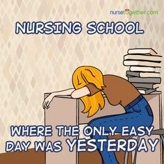 Everything may seem difficult now BUT don't give up! #nursingschool
