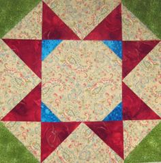 Grab Your Fabric Scraps and Make a Unique Sampler Quilt: Block Twelve: Rolling Stars Quilt Block Pattern