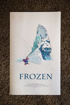 Disney's Frozen Limited Edition Giclee Art Print, Poster 14.5x24 on Etsy, $50.00